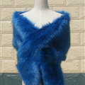 Quality Bridal Fur Scarf Shawls Women Winter Warm Solid Panties 165*30CM - Sapphire