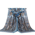 Unique Print Scarf Shawls Women Winter Warm Cotton Panties 180*90CM - Grey