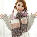 Unique Women Tassels Scarf Shawl Winter Warm Cashmere Striped Panties 215*65CM - Coffee