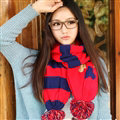 Unisex Scarf Shawls Women Warm Cashmere Solid Scarves 160*23CM - Red