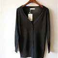 Autumn Winter Cardigans Solid Knitted Cardigan Sweater Slim Female All-Match Size - Black