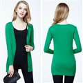 Autumn Winter Cardigans Solid Knitted Cardigan Sweater Slim Female All-Match Size - Green
