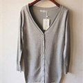Autumn Winter Cardigans Solid Knitted Cardigan Sweater Slim Female All-Match Size - Grey