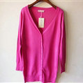 Autumn Winter Cardigans Solid Knitted Cardigan Sweater Slim Female All-Match Size - Rose