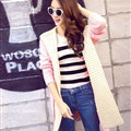 Fashion Sweater Female Cardigan Long False Two Hooded Explosion Thick Solid - Pink