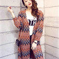 Female Cardigan Sweater Winter Coat Color Loose Thick Tassel Thin - Red
