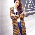 Female Cardigan Sweater Winter Coat Color Loose Thick Tassel Thin - Yellow