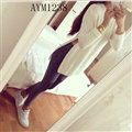 Long Sleeved Women Sweater Cardigans Solid Casual Flat Knitted - White