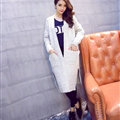 Sweater Female Fashion Winter Cardigan Coat Long Warm Hand Knitted - White