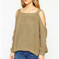 Sweater Girl Winter Hot Explosion Camisole Solid Loose Batwing Sleeve - Brown