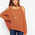 Sweater Girl Winter Hot Explosion Camisole Solid Loose Batwing Sleeve - Coffee