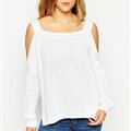 Sweater Girl Winter Hot Explosion Camisole Solid Loose Batwing Sleeve - White