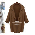 Sweater Latest Winter Single Button Loose Knit Lady - Coffee