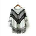 Sweater Special Winter Cotton Thick Patchwork Women Tassel Explosion - Grey