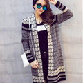 Sweater Temperament Ladies Cardigan Coat Long Open Stitch Flat Knitted Fashion - Black