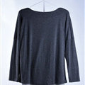 Sweater Women Fashion Casual Cotton Fake Two Knitted - Black
