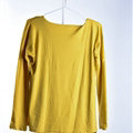 Sweater Women Fashion Casual Cotton Fake Two Knitted - Yellow