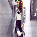 Sweater Women Street Fashion Cardigan Coat Cardigans Jacquard Thick Warm - Grey
