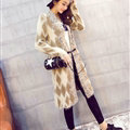 Temperament Winter Sweater Cardigan Coat Female Long Thick Warm - Beige Khaki