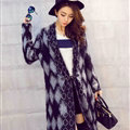Temperament Winter Sweater Cardigan Coat Female Long Thick Warm - Black