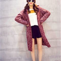 Winter Fashion Female Sweater Cardigan Jacket Thick Warm - Red