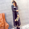 Winter Fashion Sweater Cardigan Coat Female Peacock Coat Open Stitch Thick - Grey