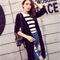 Winter Sweater Cardigan Flat Knitted Fashion Temperament Back Eyes - Black