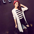 Winter Sweater Cardigan Flat Knitted Fashion Temperament Back Eyes - White