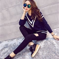 Winter Sweater Fashion Navy O-Neck Flat Knitted Female Slim - Black