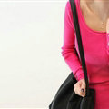 Winter Sweater Solid Tight Shirt Womens Stretch Thick - Rose