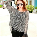 Winter Sweater Thin Women Crocheted Novelty Hollow Sexy Irregular - Black