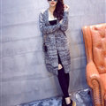 Winter Sweater Women Fashion Loose Cardigan Coat Thick Warm V Collar - Grey