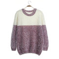 Winter Sweaters Thick Knitted O-Neck Hot Color Mohair Female - Red