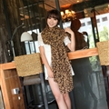 Cheap Leopard Print Scarf Shawls Women Winter Warm Chiffon Panties 200*150CM - Coffee