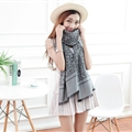 Cheap Leopard Print Scarf Shawls Women Winter Warm Cotton Panties 200*70CM - Dark Grey