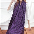 Cheap Leopard Print Scarf Shawls Women Winter Warm Cotton Panties 200*70CM - Purple