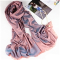 Floral Printed Scarf Shawls Women Winter Warm Cotton Panties 200*70CM - Blue