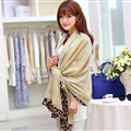 Free Leopard Print Scarves Wrap Women Winter Warm Polyester Panties 190*100CM - Kahki