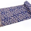 Fringed Leopard Print Scarves Wrap Women Winter Warm Acrylic Panties 195*60CM - Blue