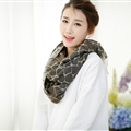 Fringed Rock Print Scarf Scarves For Women Winter Warm Cotton Panties 190*58CM - Brown