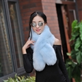 Funky Bridal Fur Scarf Shawls Women Winter Warm Solid Panties 120*20CM - Blue