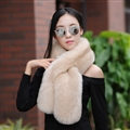 Funky Bridal Fur Scarf Shawls Women Winter Warm Solid Panties 120*20CM - Khaki