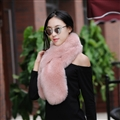 Funky Bridal Fur Scarf Shawls Women Winter Warm Solid Panties 120*20CM - Orange Pink