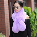 Funky Bridal Fur Scarf Shawls Women Winter Warm Solid Panties 120*20CM - Purple