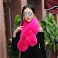 Funky Bridal Fur Scarf Shawls Women Winter Warm Solid Panties 120*20CM - Rose