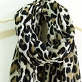 Leopard Print Scarf Scarves For Women Winter Warm Cotton Panties 195*100CM - Beige