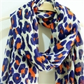 Leopard Print Scarf Scarves For Women Winter Warm Cotton Panties 195*100CM - Blue