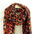 Leopard Print Scarf Scarves For Women Winter Warm Cotton Panties 195*100CM - Orange