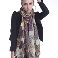 Popular Leopard Print Scarf Shawls Women Winter Warm Wool Panties 180*70CM - Purple