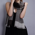 Popular Leopard Print Scarf Shawls Women Winter Warm Wool Panties 200*70CM - Grey